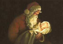 Image result for santa and baby jesus