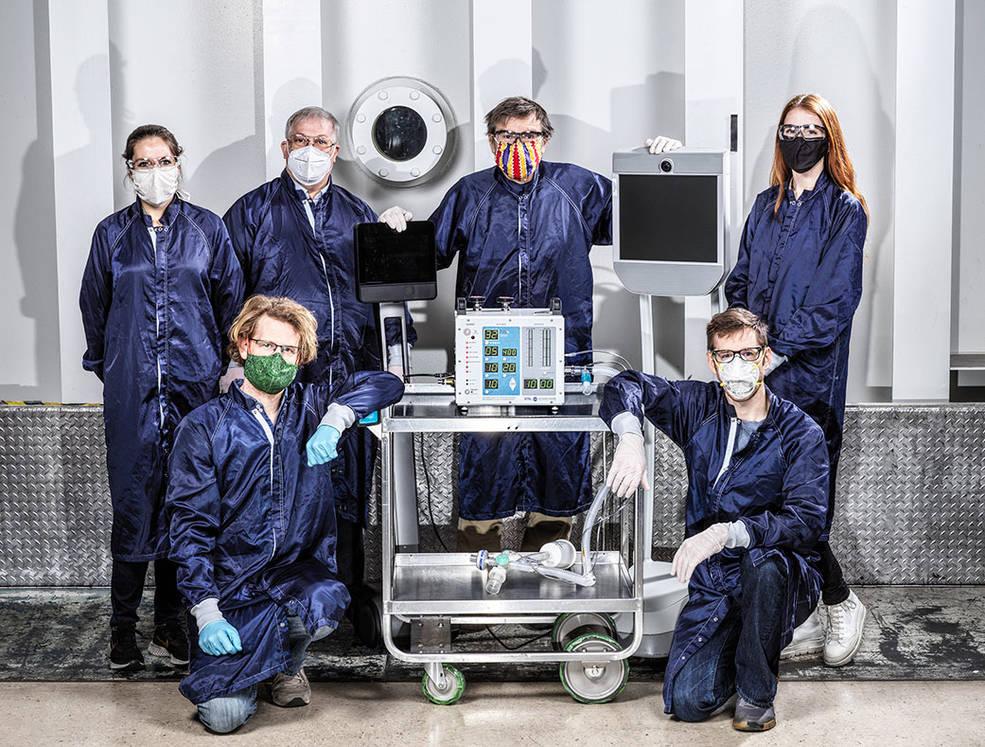 Protótipo de ventilador pulmonar específico para a covid-19 foi desenvolvido por iniciativa de engenheiros da NASA no início da pandemia. (Fonte: NASA/Divulgação)