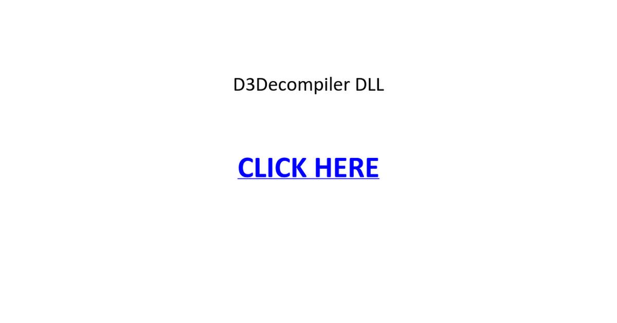 D3dcompiler 46 dll