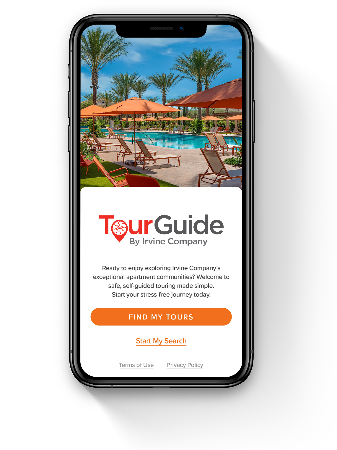 TourGuide by Irvine Company app in phone