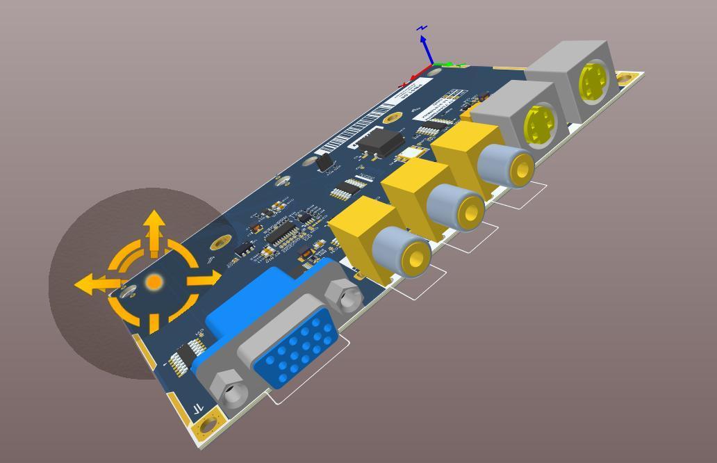 Dessin de circuit imprimé dans l'interface 3D d'Altium Designer