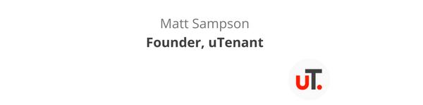 Matt Sampson Founder uTenant