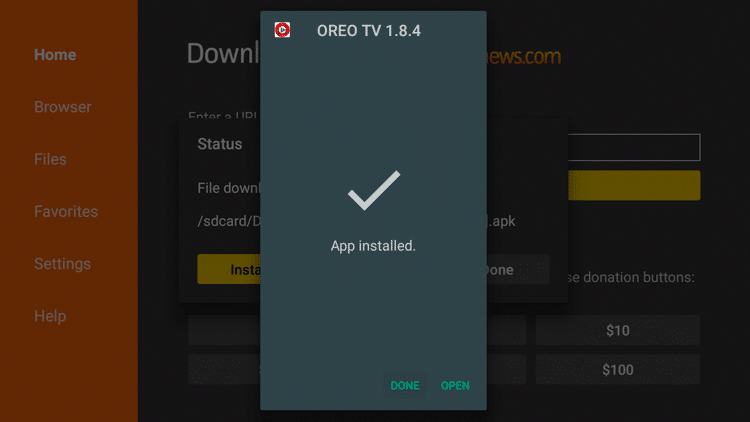 Step 19 - How To Install Oreo TV APK On Firestick:Fire TV Guide