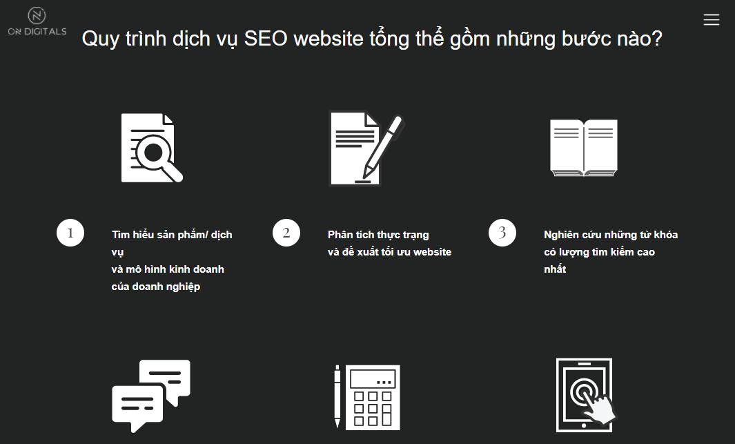3/9 bước thực hiện dịch vụ SEO của On Digitals