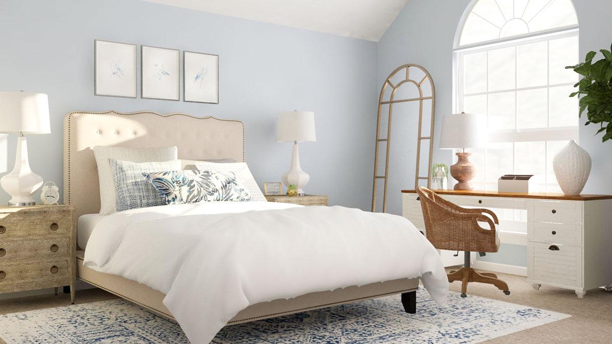 Mẫu phòng ngủ chung cư mang phong cách Bắc Âu hiện đại
