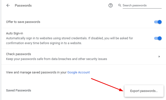 How to Import and Export Passwords in Chrome 3