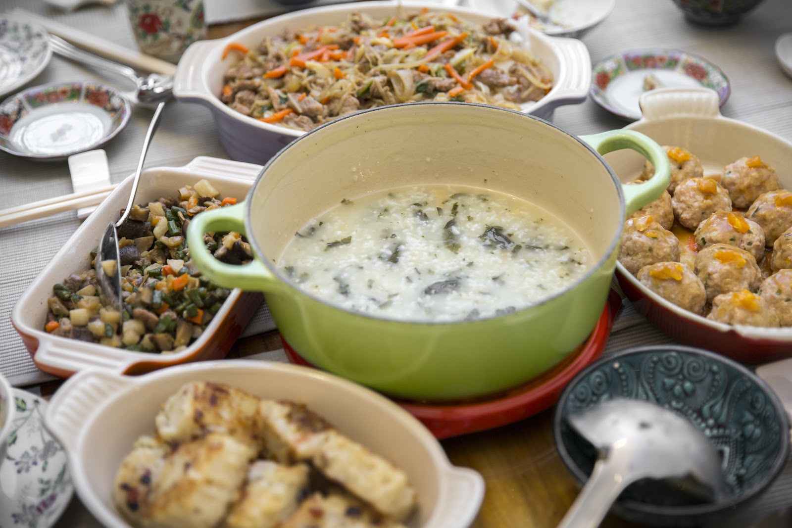 Delicious spread of Cantonese dishes