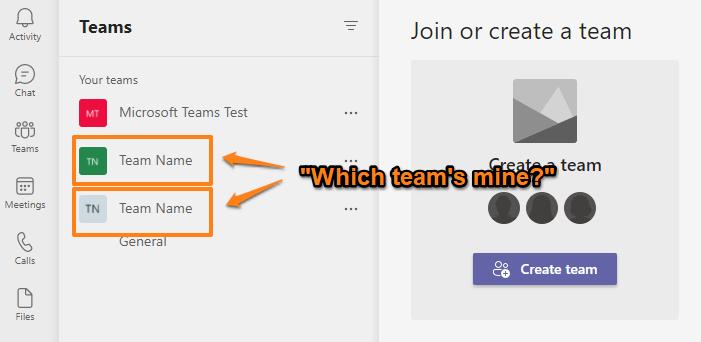Duplicate team names n Microsoft Teams.