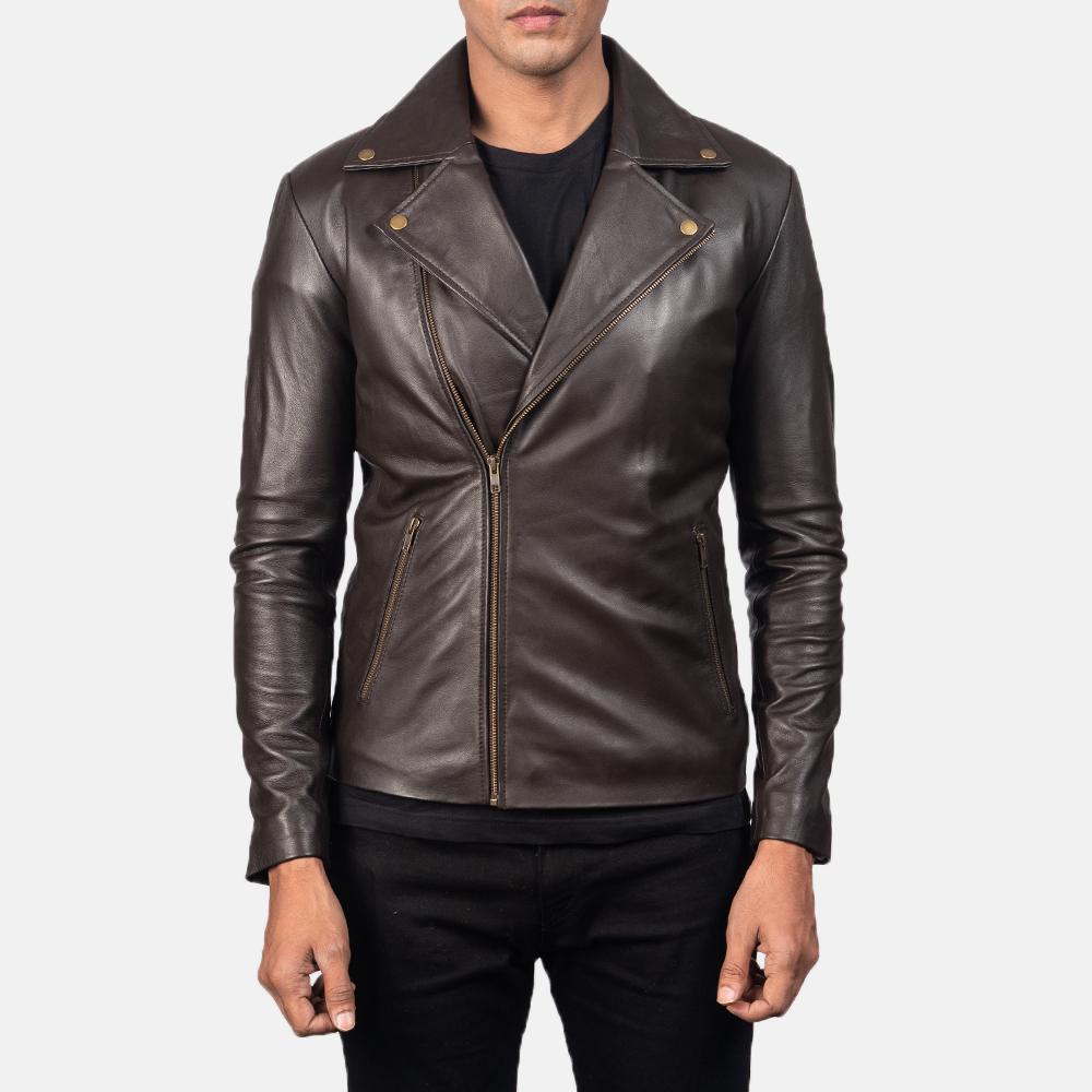 Noah Brown Leather Jacket