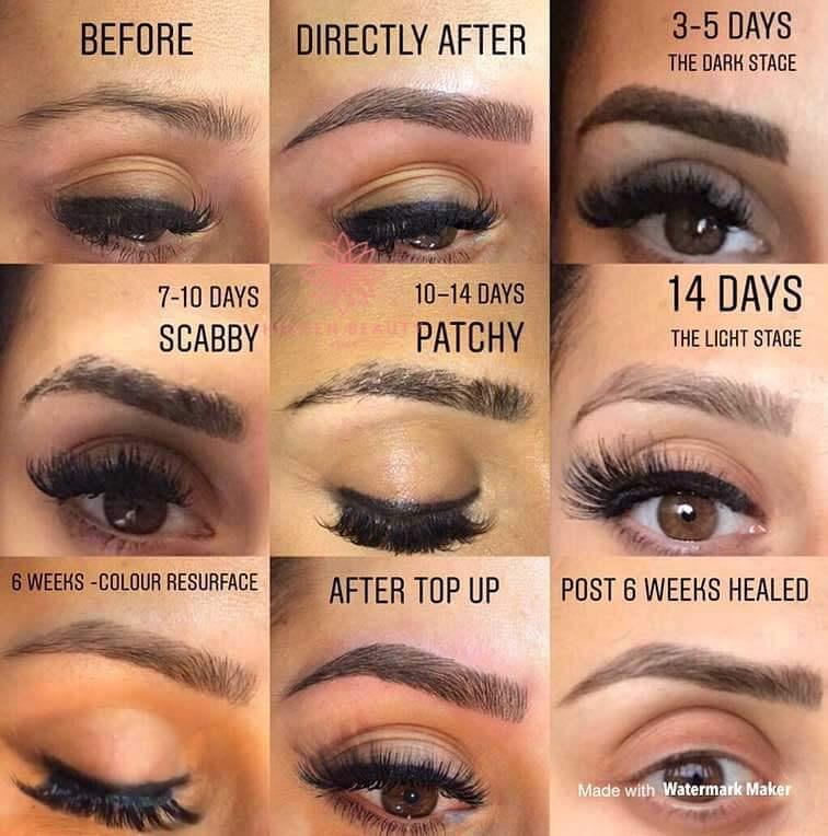 Microblading Eyebrows Changes