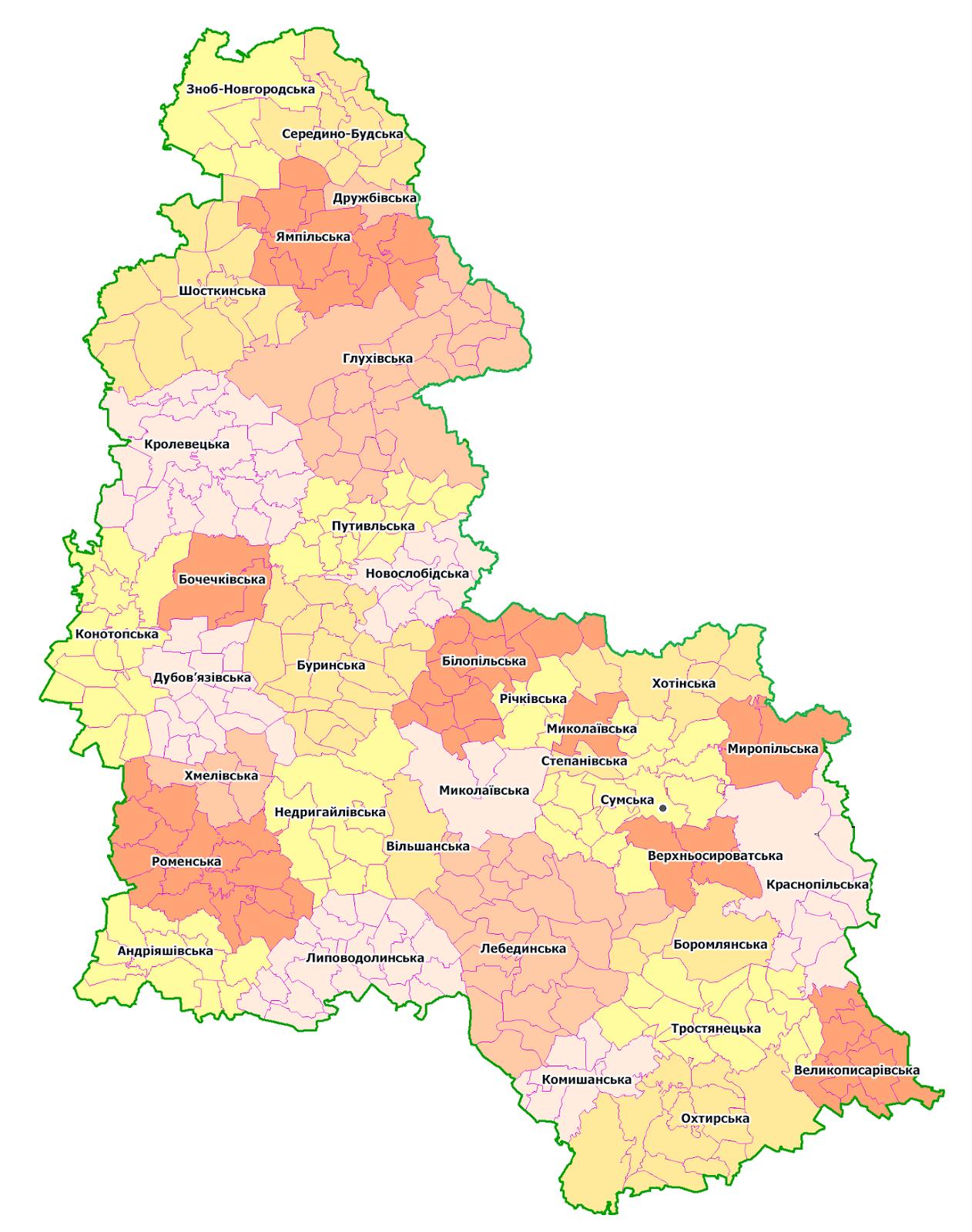 sumy oblast map 2020
