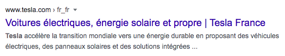 Recherche google action tesla