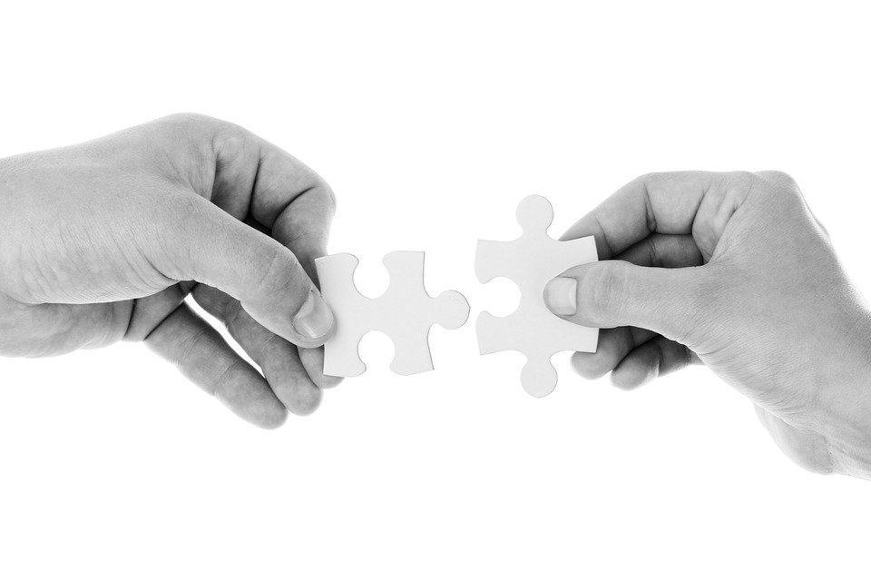 Hands, Puzzle Pieces, Connect, Connection, Cooperation
