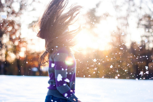 волосы зимой