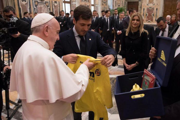 Diễn từ của Đức Thánh Cha với Câu lạc bộ Bóng đá Villarreal của Tây ban nha