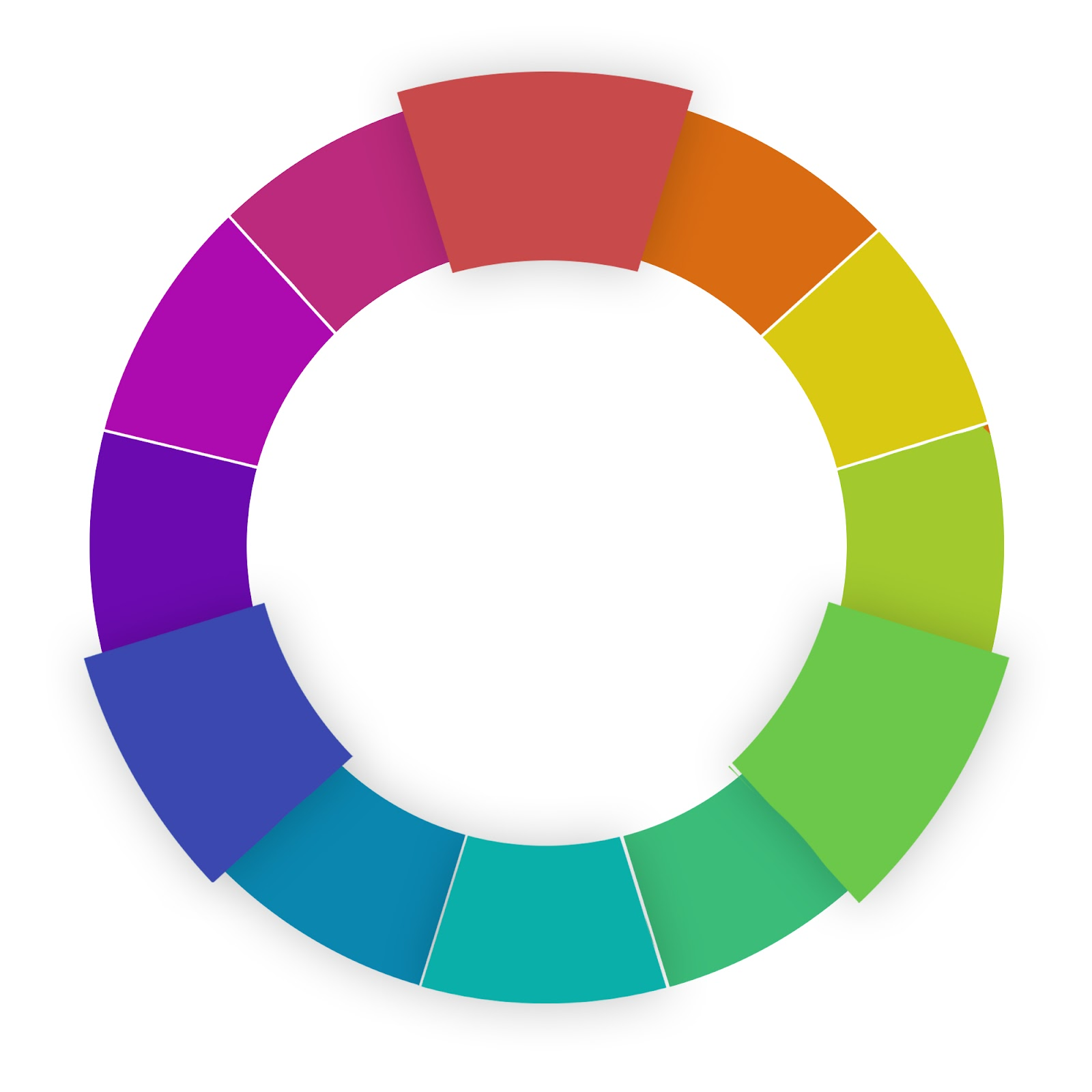 website color schemes triadic wheel