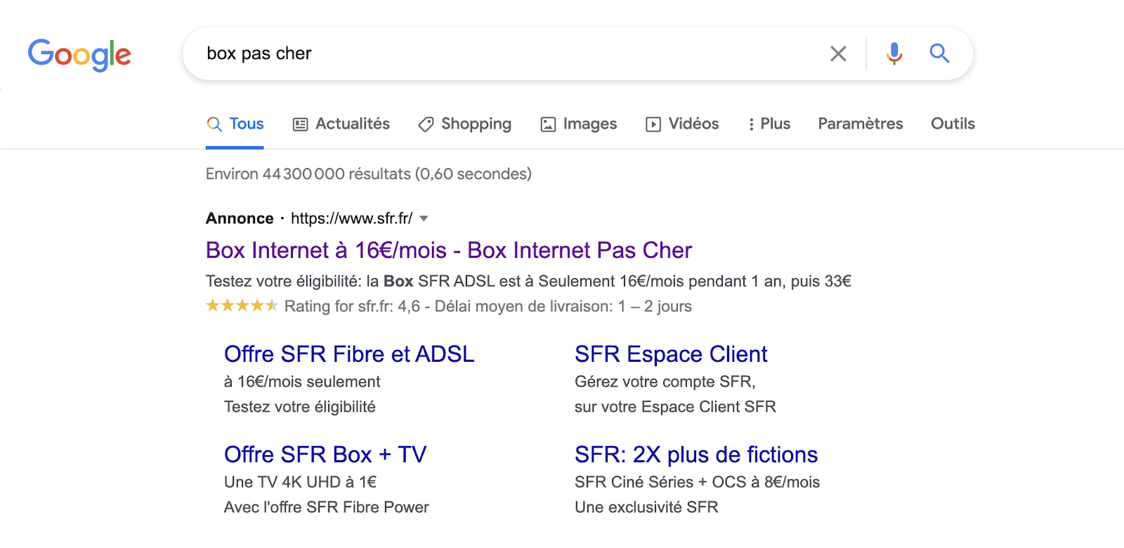 Annonce SEA Google Ads