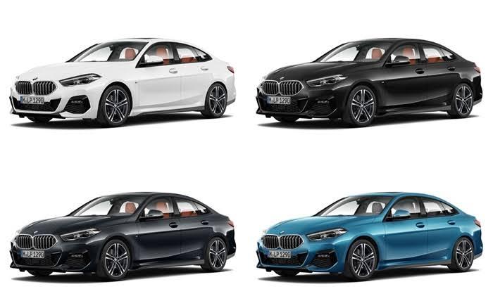 รถยนต์ BMW 2 Series 220i Grand Coupe มีทั้งหมด 4 สี