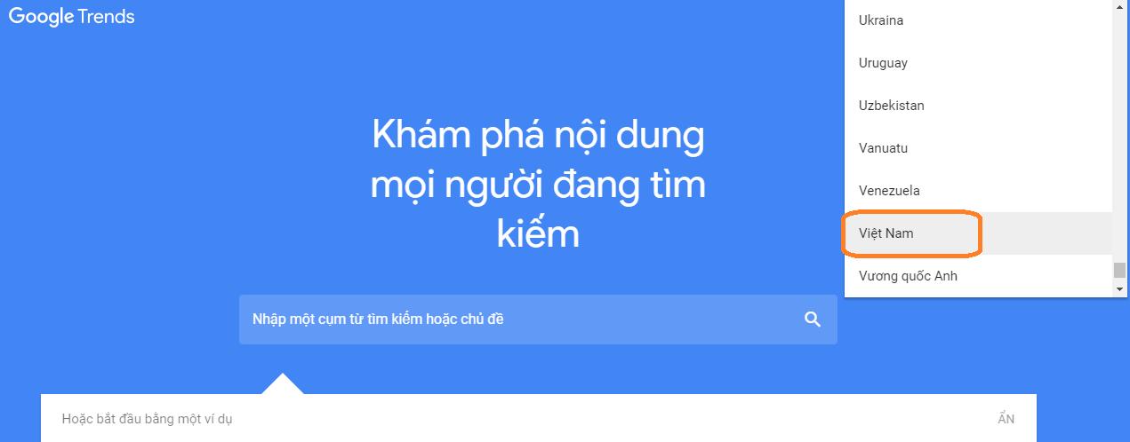 google-trends Phân tích từ khóa 2