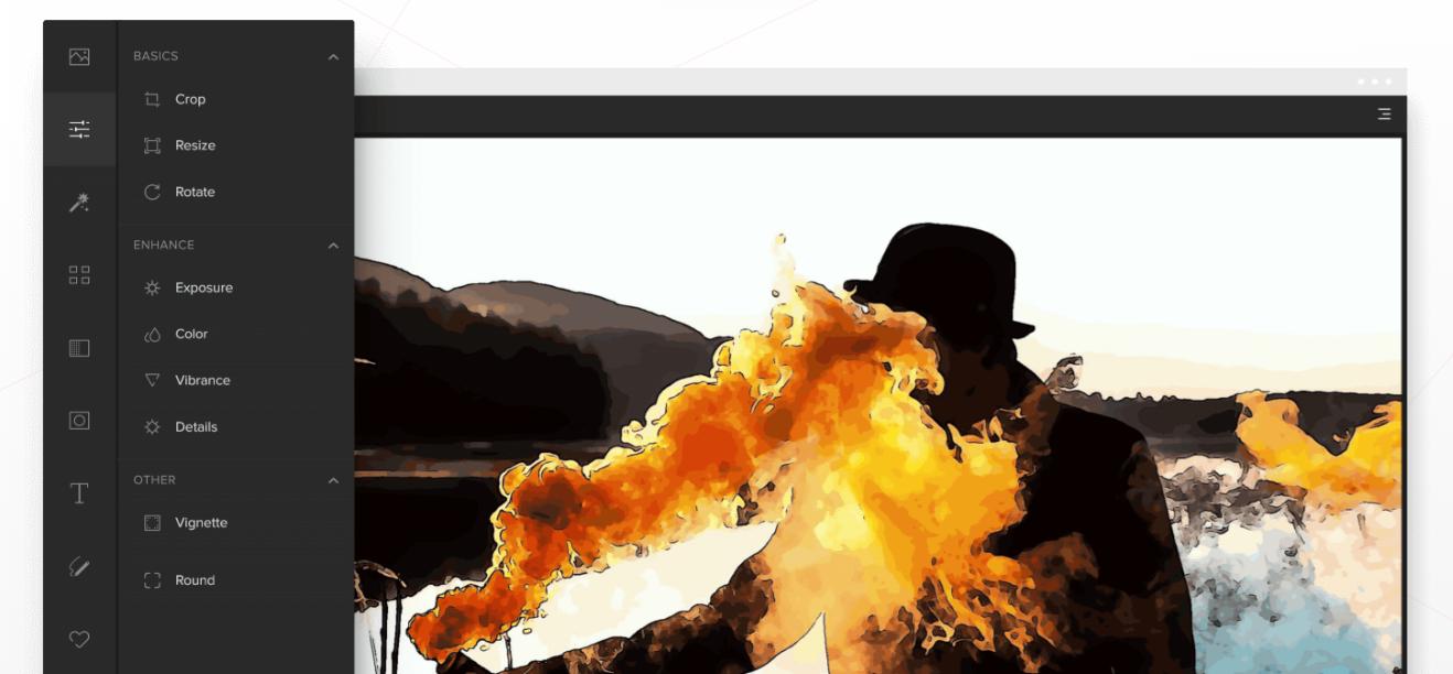 Phần mềm thiết kế đồ họa trên website Colorcinch
