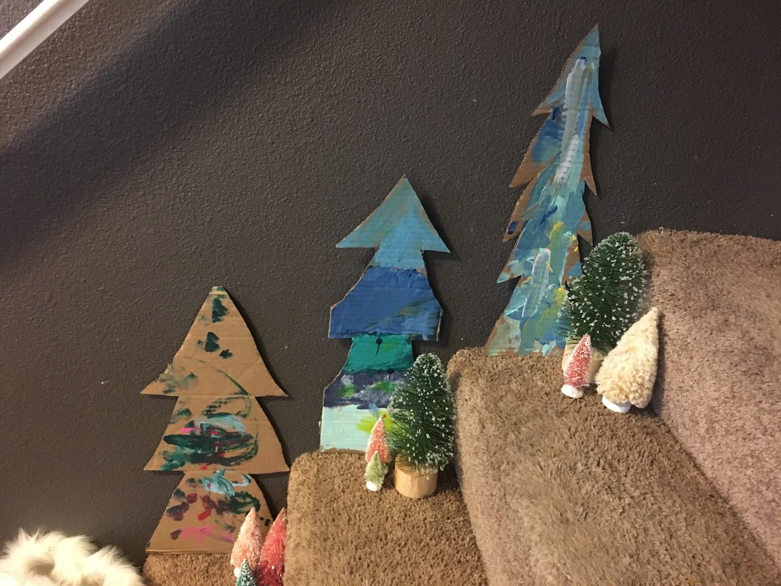 DIY Cardboard Holiday Trees - theCityMoms