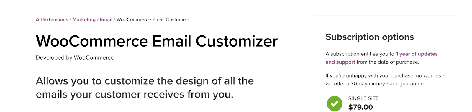 WooCommerce Email Customizer header image