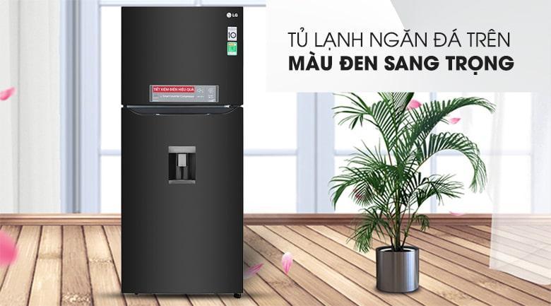 Tủ lạnh LG GN-D422BL màu đen sang trọng