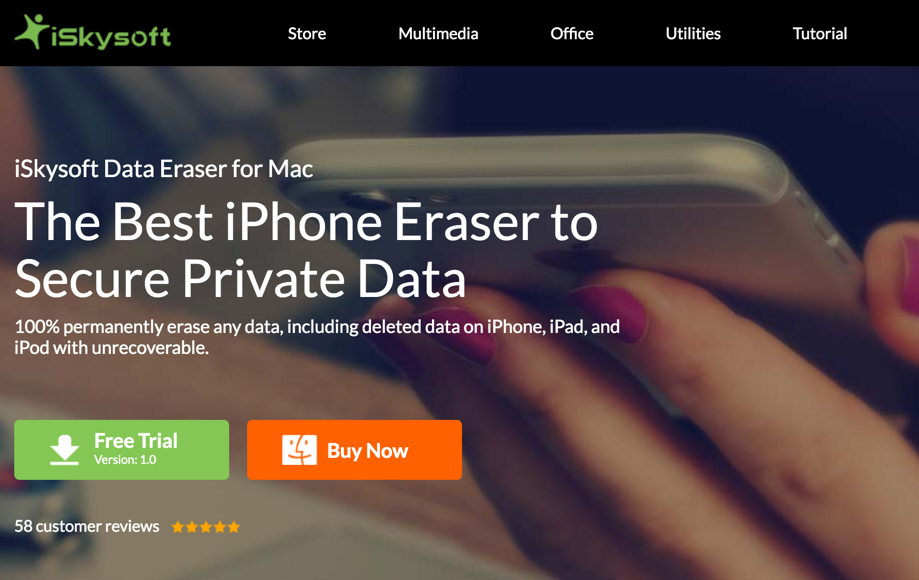 Review of Data eraser software for MAC by iSkysoft