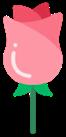 Flor rosa.