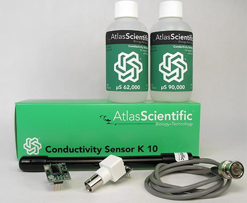 Water Sensor Node: Arduino + Atlas Scientific pH & Conductivity