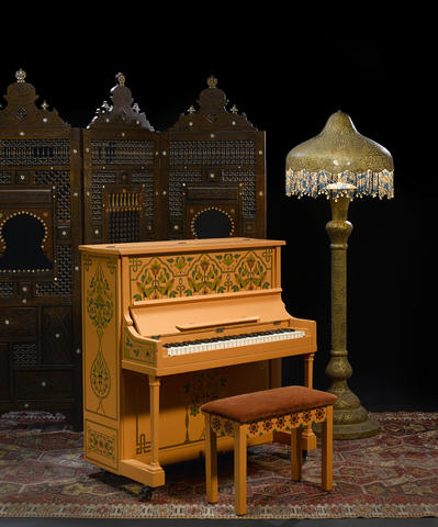 The iconic piano from Rick's Cafe Américain in Casablanca