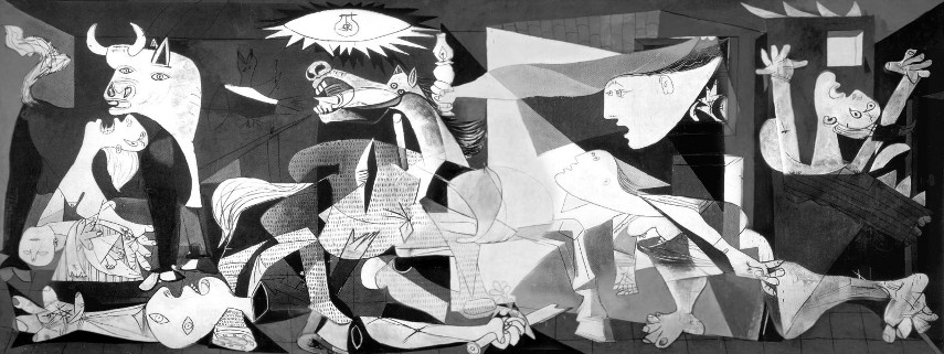 Photo of the entire Guernica composition, Museo Reina Sofia