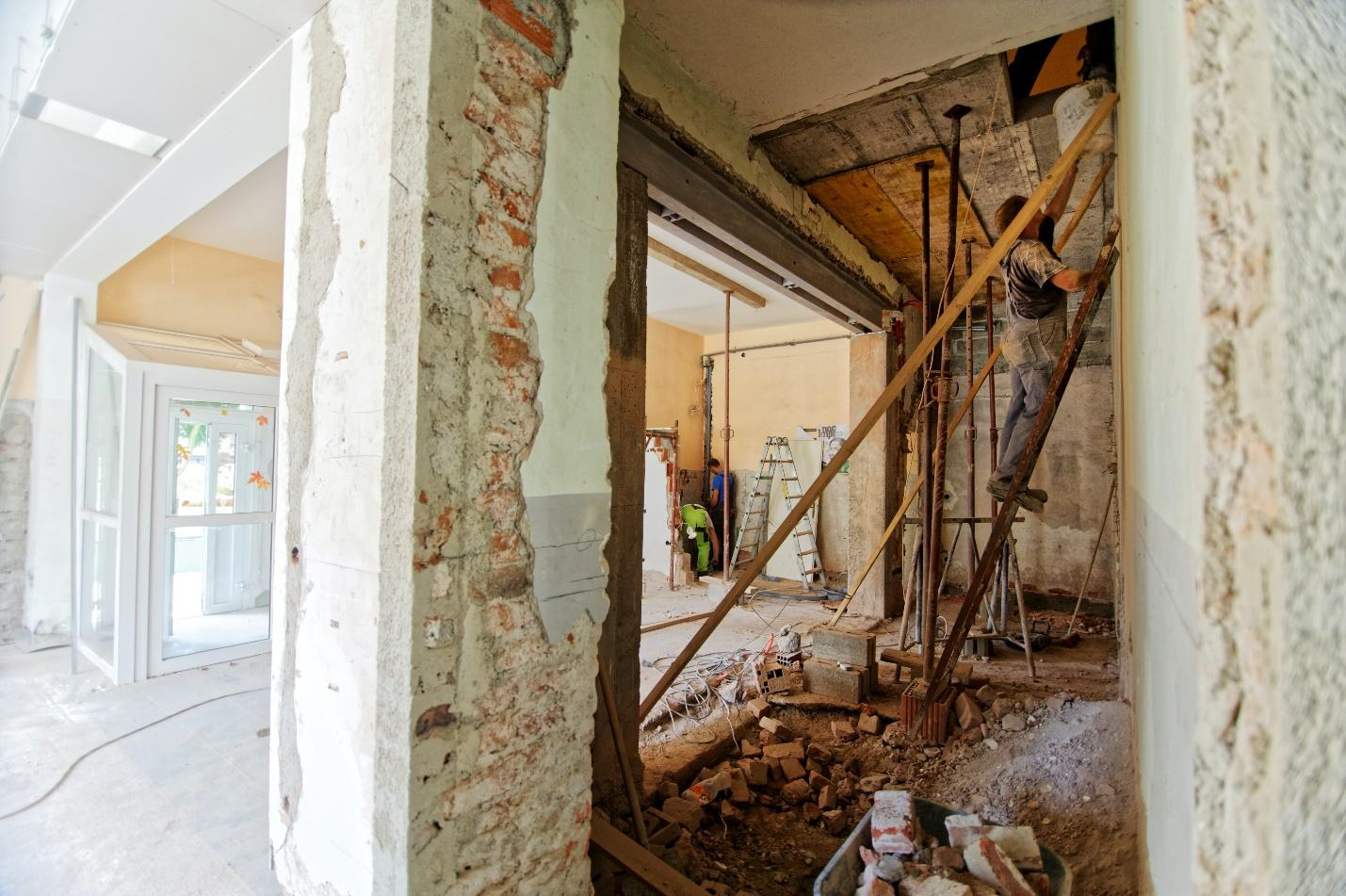 A home during renovations, representing why you should move out during a remodel