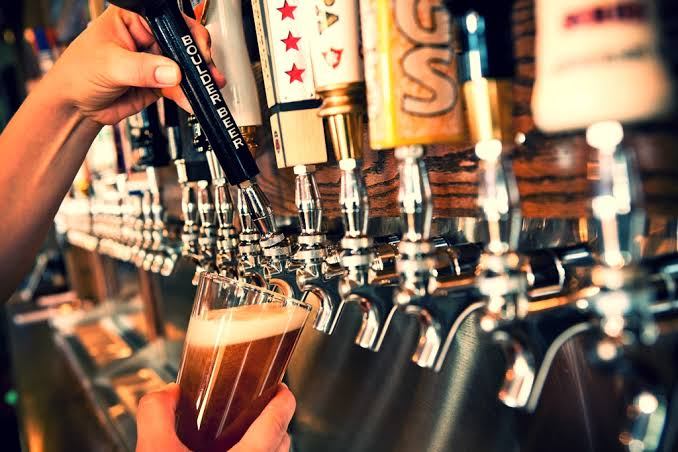 beers on tap in an San Francisco office