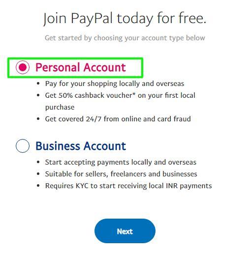 tài khoản Paypal