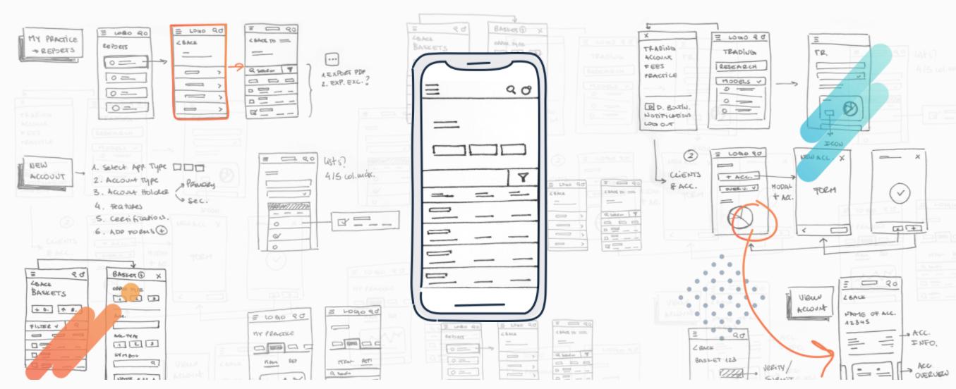 Illustration of app design process