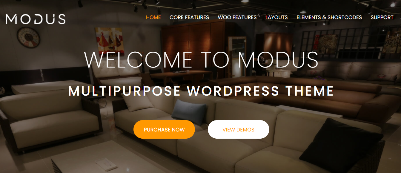 Review Modus- Woocommerce furniture themes