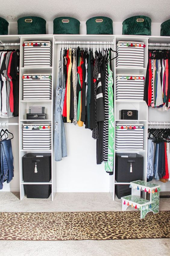 DIY Master Closet By Bringing In Boxes