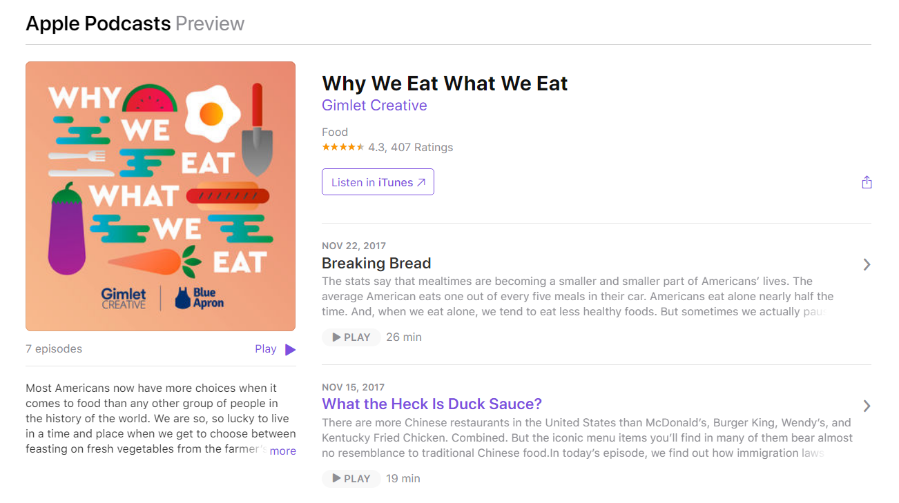 blue apron podcast