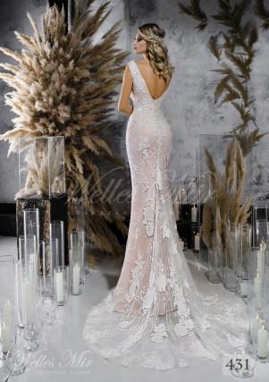 Кружевной подол свадебного платья