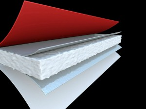 SuperLayer insulation for fabric covered structures - 3D rendering.
