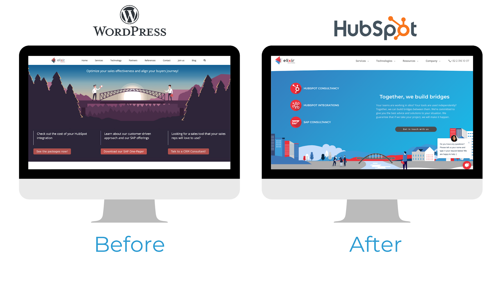 Wordpress versus Hub CMS