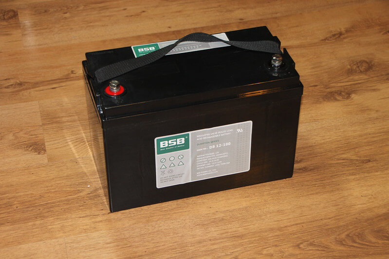lead acid battery ready for installation
