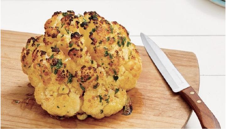 thanksgiving potluck recipe -  roasted cauliflower