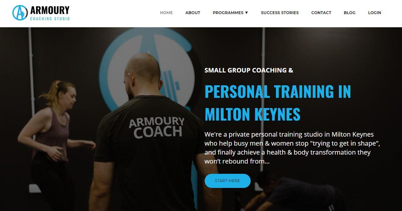 Armoury Coaching Studio website.