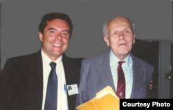 Петр Патрушев и академик Андрей Сахаров. Калифорния, 1988