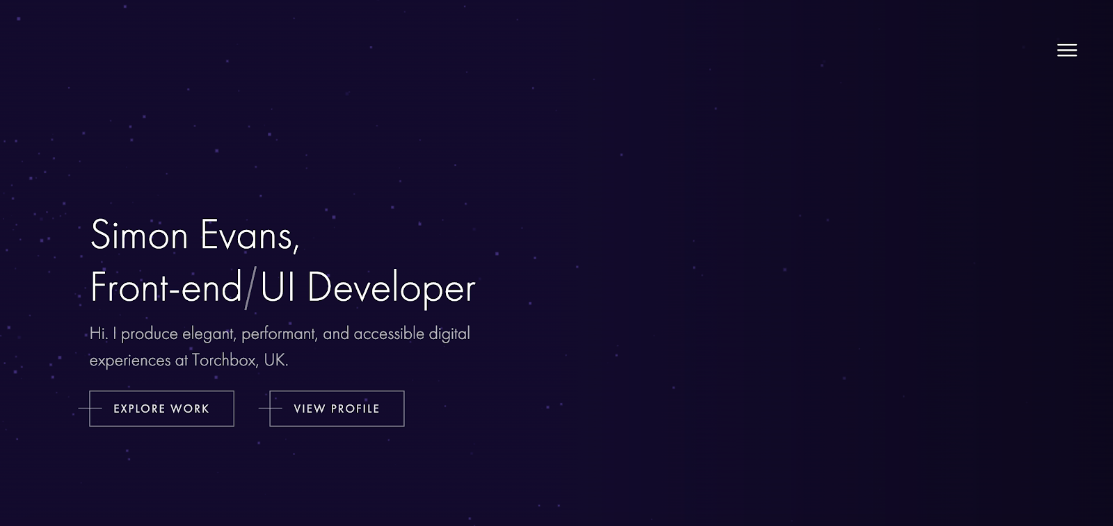 Web Developer Portfolio of Simon Evans