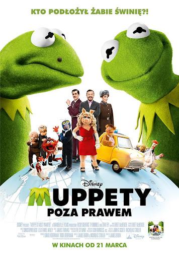 Polski plakat filmu 'Muppety - Poza Prawem'