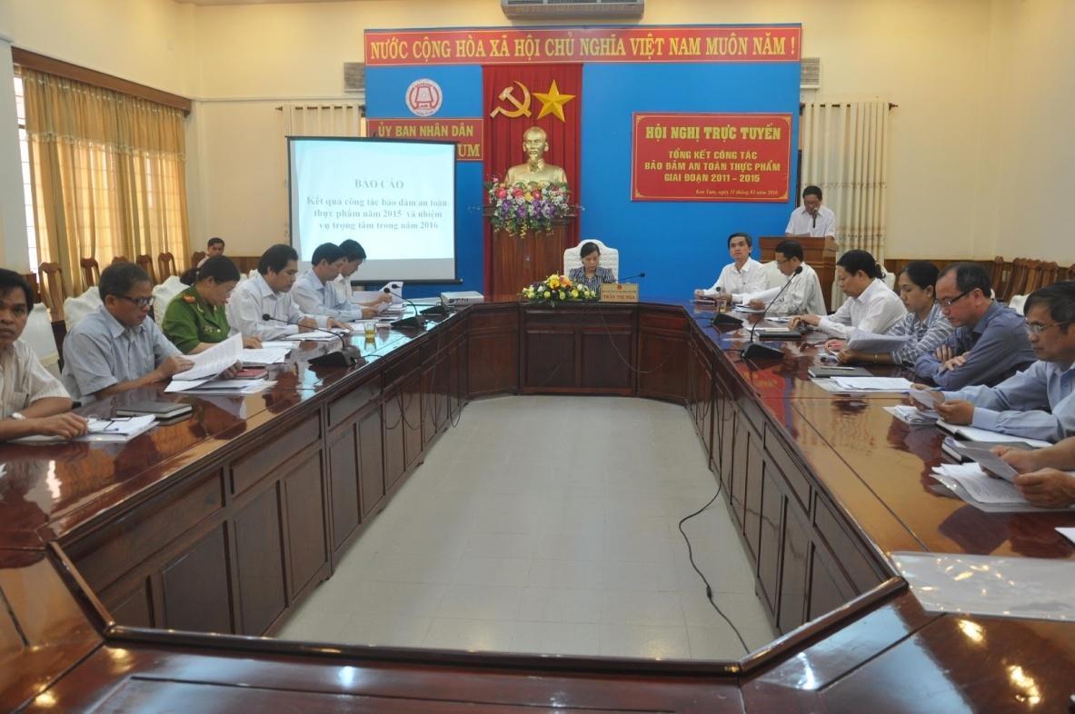 Kết quả hình ảnh cho Ban chỉ đạo an toàn thực phẩm tỉnh Kon Tum