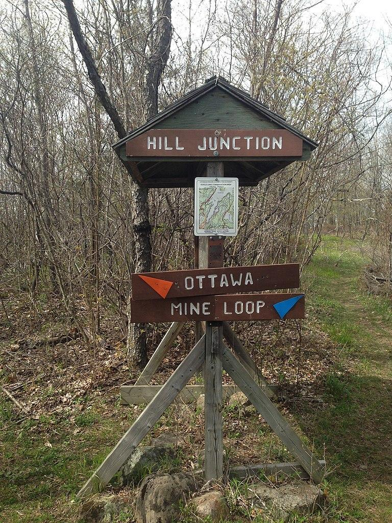 Hill Junction on the Rideau Trail, one of the longest hiking trails in Canada